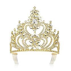 Gold Crystal Rhinestone Crown