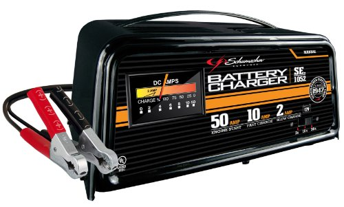 Schumacher SE-1052 50/10/2 Amp Manual Starter/Charger (Charger 12 Volt Starter Battery)
