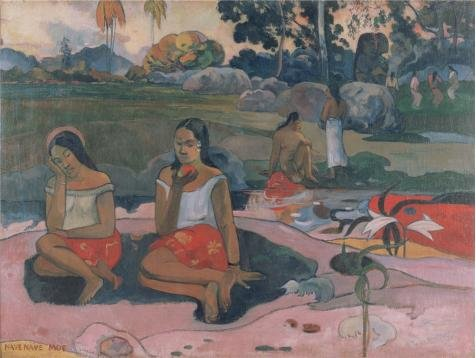 'Sacred Spring, Sweet Dreams,1894 By Paul Gauguin' Oil Painting, 18x24 Inch / 46x61 Cm ,printed On Perfect Effect Canvas ,this Beautiful Art Decorative Canvas Prints Is Perfectly Suitalbe For Home Theater Artwork And Home Decoration And Gifts (80s Workout Costumes Diy)