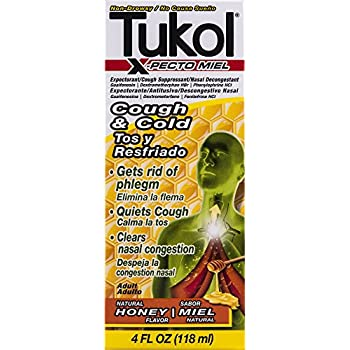 TUKOL Adult X-Pecto Miel Honey Cold Syrup, 4 oz.