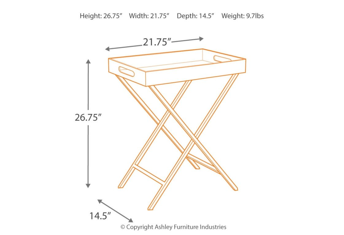 Ashley Furniture Signature Design - Ervinville Tray Accent Table - Contemporary - Clear Acrylic Top - Gold Metal Base by Signature Design by Ashley (Image #3)