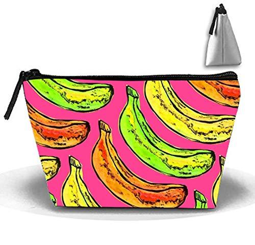 Colorful Bananas Clutch Bag Travel Cosmetic Bags Portable Makeup Organizer