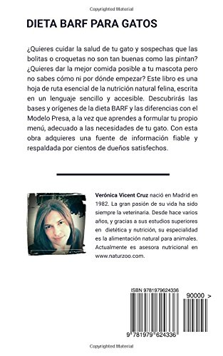Amazon.com: Dieta BARF para gatos: Guía completa para alimentar a tu gato con comida natural (Spanish Edition) (9781979624336): Verónica Vicent Cruz: Books