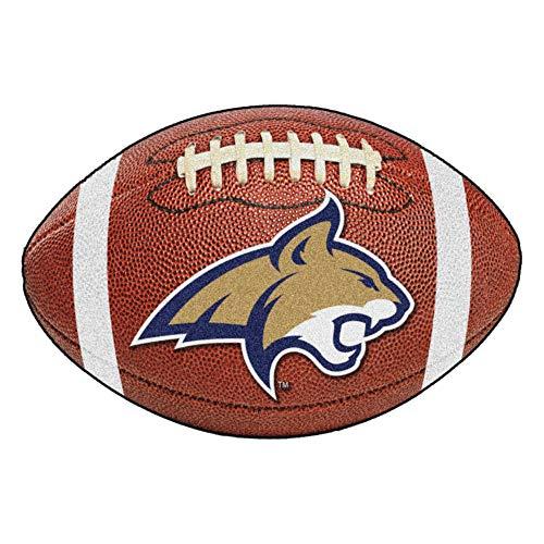 (FANMATS NCAA Montana State University Fighting Bobcats Nylon Face Football Rug)
