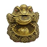 Brass Money Toad Statue Lucky Yuanbao Frog Figurine Home Decor Gift Collection