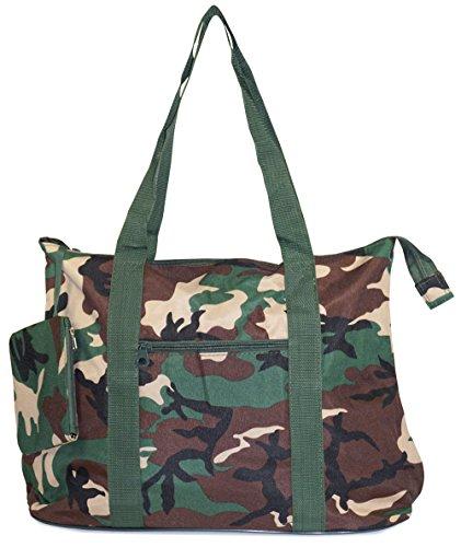 Camo Canvas Tote Bag (Ever Moda Green Camo Tote Bag X-Large 21-inch)