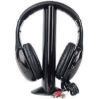 N MARKET 5-in-1 Hi-Fi S-XBS Wireless Headphones with FM Radio