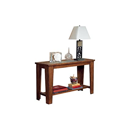 Amazon ashley furniture signature design toscana sofa table ashley furniture signature design toscana sofa table wood with natural slate tiles and lower watchthetrailerfo