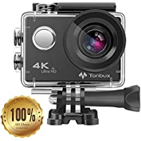 TONBUX Action Camera 17MP 1080P HD WiFi Waterproof Sports Cam 2 Inch LCD Screen , 170 Degree Wide Angle Lens , 98ft Underwater DV Camcorder With Accessories Kits