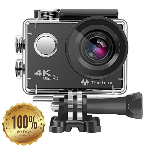 TONBUX Action Camera 17MP 1080P HD WiFi Waterproof Sports...