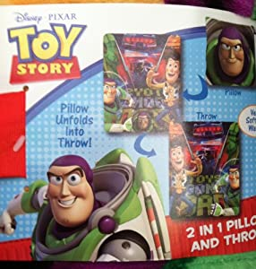 Amazon.com: Disney Pixar Toy Story Toys Gone Bad 2 in 1 Pillow and Throw: Home & Kitchen
