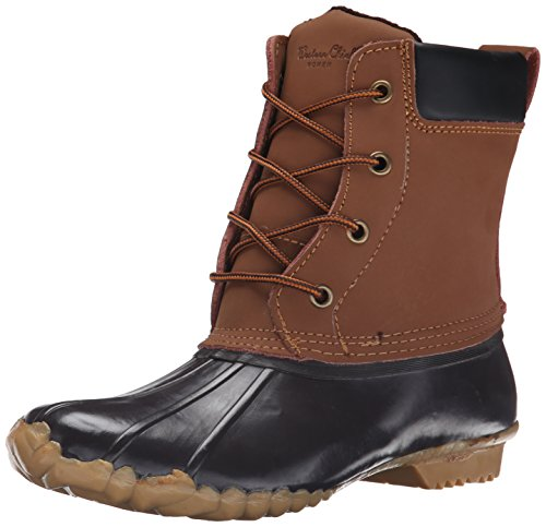 Western Chief Women Waterproof Four-Eye Lace-Up Duck Up , Chocolate, 8 M US