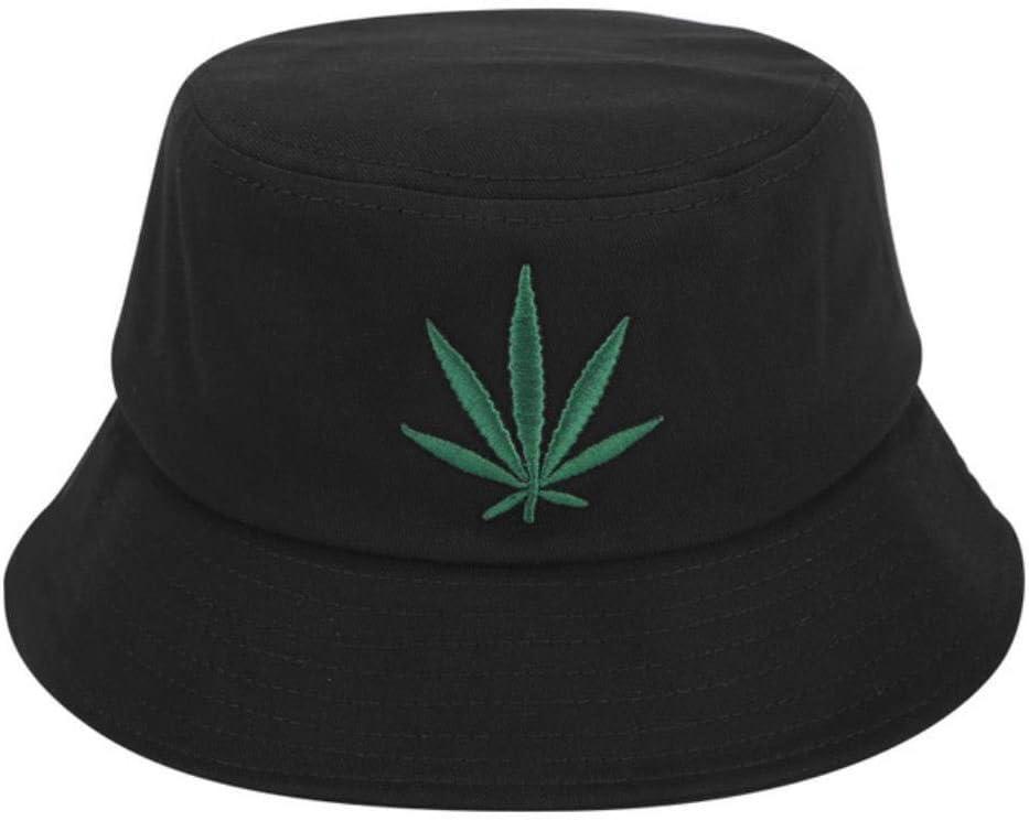 NZMAOZI Gorras De Hombre Los Sombreros De La Mujer del Hombre De La Hoja De Arce del Sombrero De Hip Hop Fischer Panamá Algodón Bordado Cubo Informal Protección Al Aire Libre De Verano