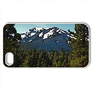 Mt. Tallac From Near Eagle Point - Case Cover for iPhone 4 and 4s (Mountains Series, Watercolor style, White)