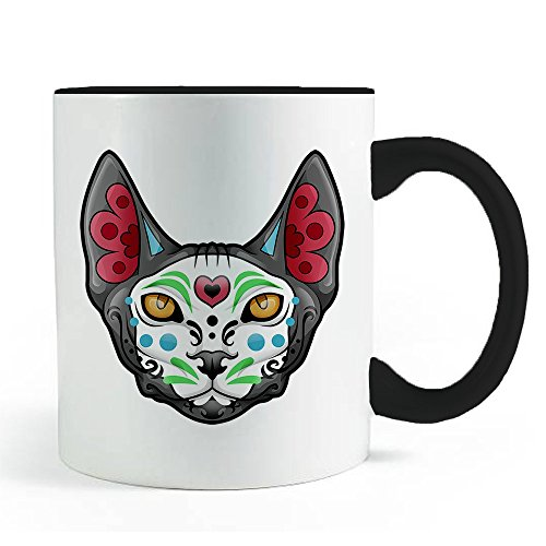 Sugar Skull Sphynx Cat - Coffee and Tea Mug -