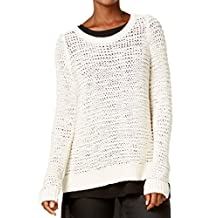 Eileen Fisher Womens Knit Long Sleeves Pullover Sweater