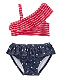 Gymboree Baby Girls 2-Piece Swim Set, True Red Stripe, 6-12 Mo