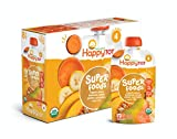 Happy Tot Organic Stage 4 Super Foods Pears Bananas Sweet Potatoes & Pumpkin + Super Chia, 4.22 Ounce Pouch (Pack of 16) (Packaging May Vary)
