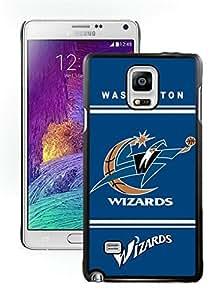 New Custom Design Cover Case For Samsung Galaxy Note 4 N910A N910T N910P N910V N910R4 Washington Wizards 10 Black Phone Case