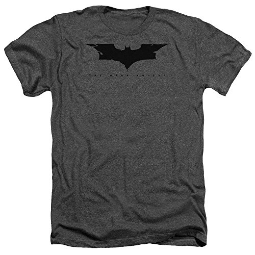 Trevco The Dark Knight Cracked Bat Logo Unisex Adult Heather T Shirt For Men and Women