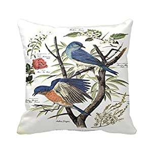 "Fashion American Home State Bird Cotton Square Decorative Throw Pillow 18 ""X18 """