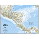 National Geographic: Central America Classic Wall Map (28.75 x 22.25 inches) (National Geographic Reference Map)