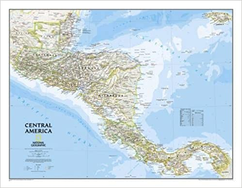 national geographic central america classic wall map 2875 x 2225 inches national geographic reference map 9780792249597 reference books amazon