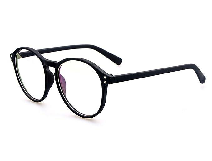 221f7e3044 D.King Women Oversized Frame Inspired Horned Rim Clear Lens Circle Eyeglasses  Black