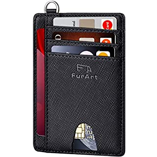 FurArt Slim Minimalist Wallet, Front Pocket Wallets, RFID Blocking, Credit Card Holder