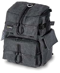 National Geographic Walkabout Small Rucksack Bag - Funda (Negro, Gris, Lienzo, 230 x 105 x 180 mm, 250 x 180 x 360 mm)