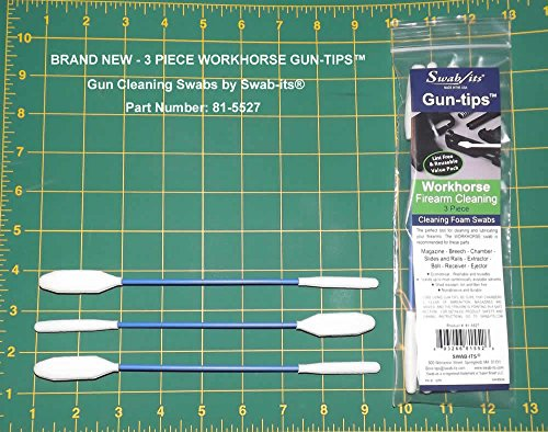 SWAB-ITS Gun-tips Double-ended Workhorse Firearm Cleaning Swabs: 81-5527 (Double Ended Swab)