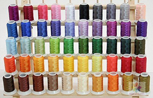 NEW Brother / Babylock Colors 50 Cones Polyester Embroidery Threads 40wt 1100yards from ThreadNanny by ThreadNanny