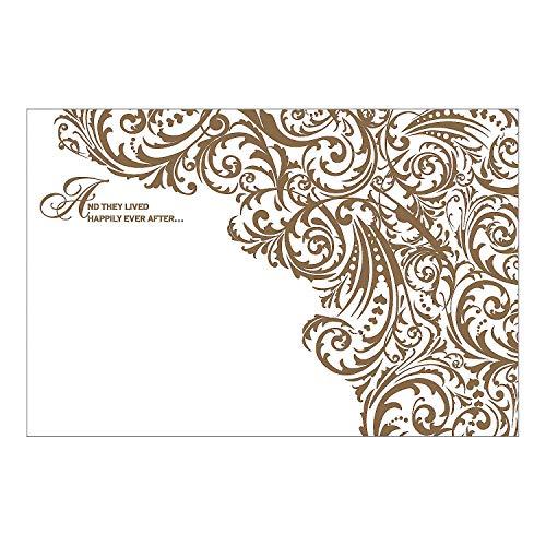 Fun Express - Happily Ever After Backdrop Banner for Wedding - Party Decor - Wall Decor - Preprinted Backdrops - Wedding - 2 -