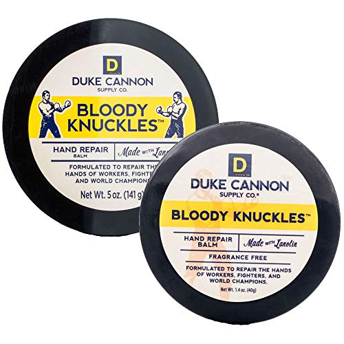 Duke Cannon Bloody Knuckles Hand Repair Balm Bundle for Men: 5 Oz + 1.4 Oz