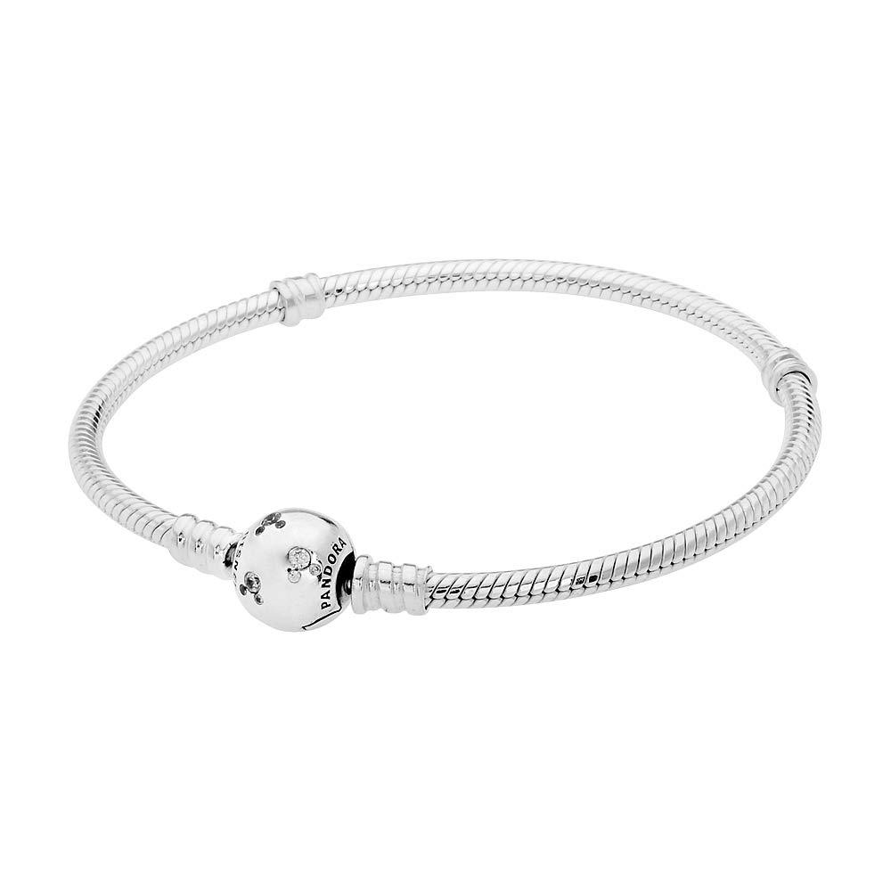 Pandora Disney Moments Mickey Silver Bracelet 590731CZ19 by PANDORA