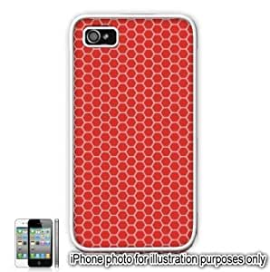 Red Honeycomb Pattern For Apple Iphone 5/5S Case Cover Skin White