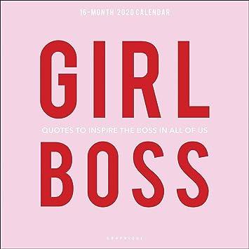 com graphique girl boss wall calendar month wall