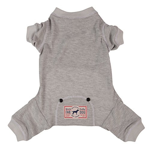 fabdog Grey Thermal Dog PJs, Dog Pajamas (14