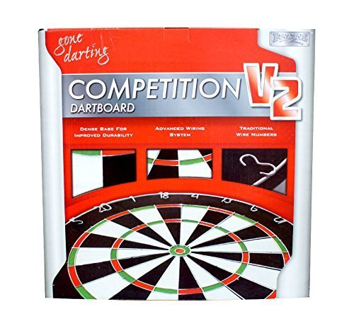 Games Play Dartboard - by Suasinternational Competition v2 Wire Number Professional Dartboard Game Play Set Entertainment BN