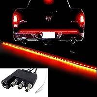 "iJDMTOY Red/White 60"" Trunk Tailgate Tail Gate LED Light Bar For Backup Reverse Brake, Turn Signal Light Functions For Ford GMC Chevy Dodge Toyota Nissan Honda Truck SUV 4x4"