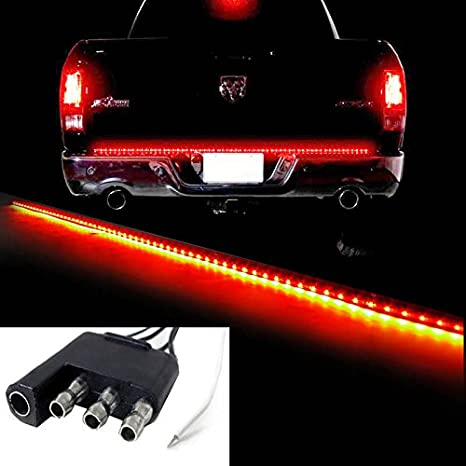 "Inspirational iJDMTOY Red White 60"" Trunk Tailgate Tail Gate LED Light Bar For Backup Reverse Simple Elegant - best led light bar for the money Style"