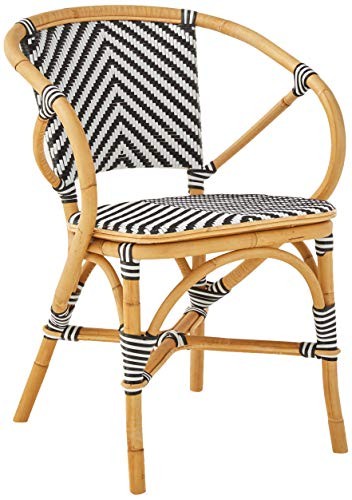 Sloane Elliot Baskerville Chevron Bistro Chair, Black and White (Paris Bistro Chairs)