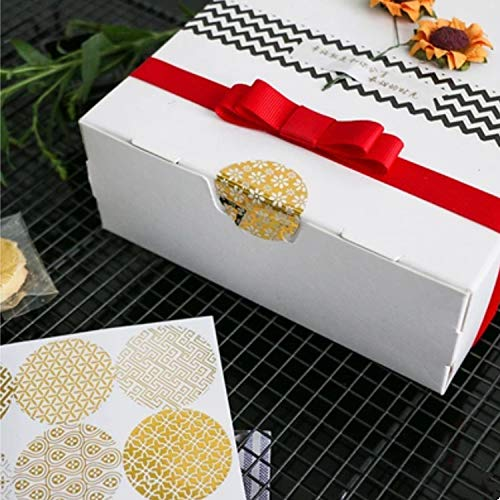 (100 Gold Round Plastic Decorative Stickers for Party Favor Bags, Gift Boxes, Holiday Decorations, Baby Shower, Wedding Celerbrations)