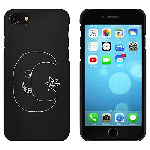 Noir 'Lune et Étoile' étui / housse pour iPhone 7 (MC00065317)
