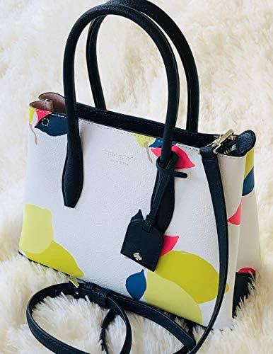 Eva Lemon Zest Petit sac en cuir avec fermeture Éclair sur le dessus Blanc