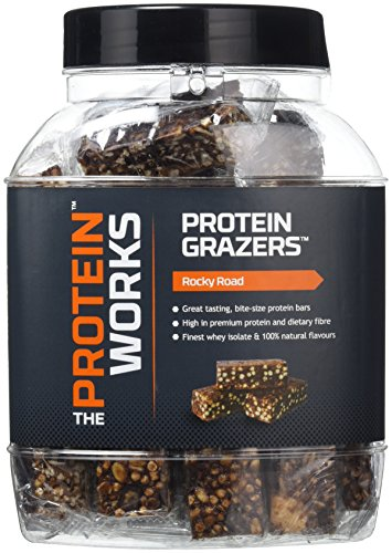 The Protein Works Grazers Mini Protein Bars, Rocky Road, Tub of 36