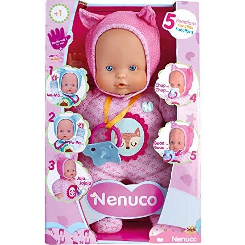 Nenuco de Famosa 700014781 Muñeco Blandito 5 funciones Color rosa