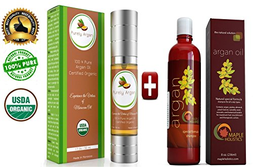 Argan-Oil-Shampoo-and-Hair-Conditioner-Set-Argan-Jojoba-Almond-Oil-Peach-Kernel-Keratin-Sulfate-Free-Safe-for-Color-Treated-Damaged-and-Dry-Hair-For-Women-Men-Teens-and-All-Hair-Types