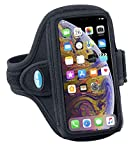Tune Belt Armband for iPhone Xs Max, Xr, 8 7 6s 6 Plus, Galaxy S8 S9 S10 Plus and Note 8 9 - for Running & Working Out - Sweat-Resistant [Black]