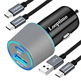 USB Type C Fast PD Car Charger,Compatible with Google Pixel 4/4XL/3 XL/3/3a XL/3a/2 XL/2/XL,36W Power Delivery & Quick Charge 3.0 Car Adapter (Fast Charging Type C Cable 3.3Ft 2 Pack Included)